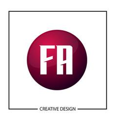 initial letter logo fa template design vector image