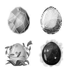 Isolated object monster and fantasy symbol set vector
