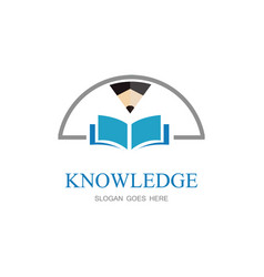 knowledge education logo vector image