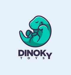 logo dinosaur simple mascot style vector image