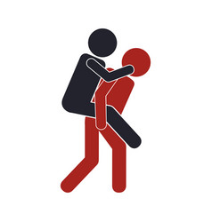 Man carrying another icon vector