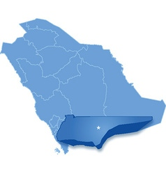 Map of Saudi Arabia the region Najran vector