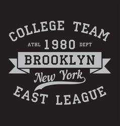 new york brooklyn - graphic for t-shirt vector image