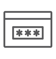 password line icon security and access browser vector image