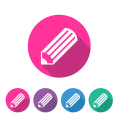 pencil icon in circle vector image