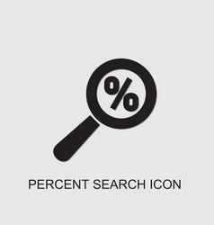 Percent search icon vector