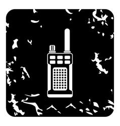 Radio icon grunge style vector