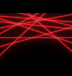 red line laser light beam on black technology vector image