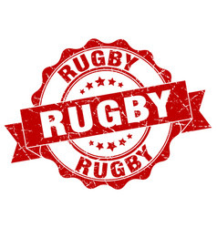 Rugby stamp sign seal vector