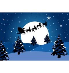 Santa claus chirstmas background vector image