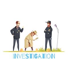 Scene of crime composition vector