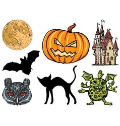 Set for Halloween vector