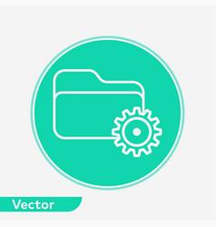 settings folder icon sign symbol vector image