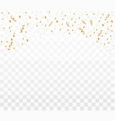 shiny golden confetti vector image