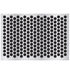 Silver abstract metal background with holes and vector