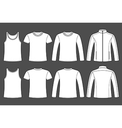 Singlet T-shirt Long-sleeved T-shirt and Jacket vector image vector image