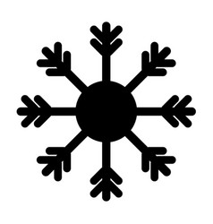 snowflake icon black on white background vector image