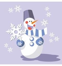 Snowman color 08 vector