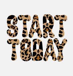 start today hand drawn lettering isolated vector image