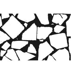 stone masonry monochrome vector image