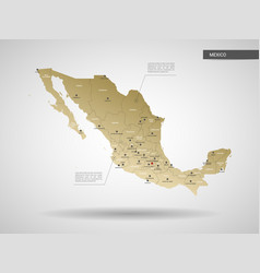 stylized mexico map vector image