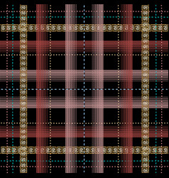 tatran plaid style checkered greek seamless vector image
