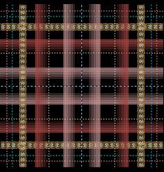 tatran plaid style checkered greek seamless vector image