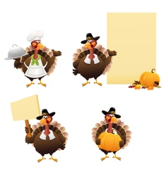 Thanksgiving Turkey Set vector