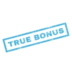 True Bonus Rubber Stamp vector