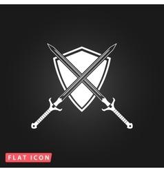 Two swords and shiel vector