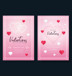 Valentines day invitation vector