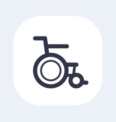 wheelchair icon on white vector image