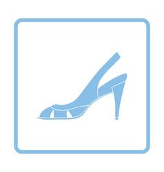 Woman heeled sandal icon vector