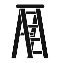 wooden ladder icon simple style vector image