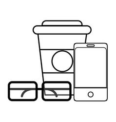 Work coffee cartoon vector