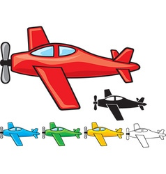 Airplanes collection vector image