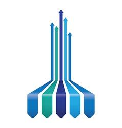 blue arrow background vector image vector image