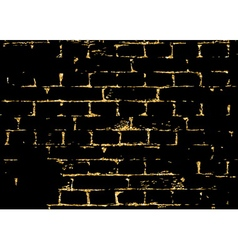 Brick wall gold texture pattern white abstract vector image