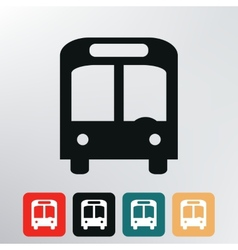 city bus icon vector image vector image