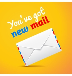 new mail symbol isolated vector image