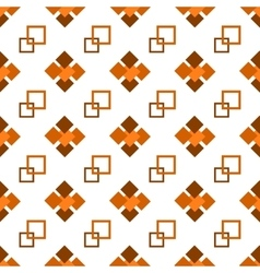 Seamless repeating pattern of brown squares vector image vector image
