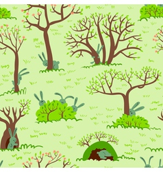 Spring seamless vector image vector image