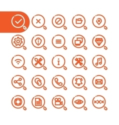 Fat Line Icons vector image vector image