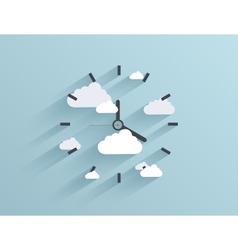 flat clock background Eps10 vector image
