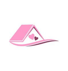 house love couple logo vector image