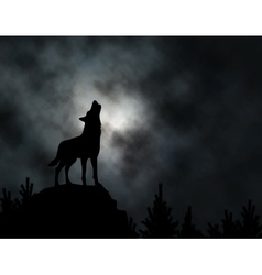 Howling wolf vector image vector image