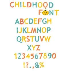 stylized paint-like alphabets vector image