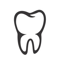 tooth icon isolated on white background vector image