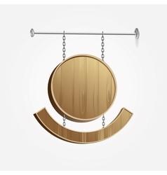Wooden Blank Signboard vector image vector image