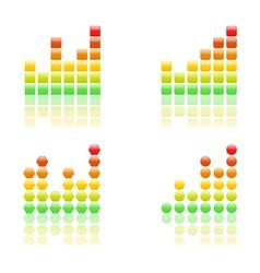 bar grahs icons vector image